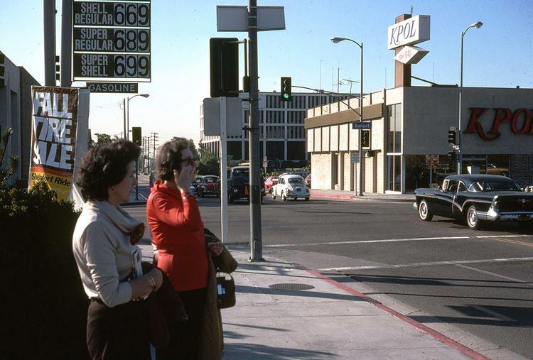 Цветные фото старого Лос-Анджелеса 40-70-х годов - ретро-фото 21