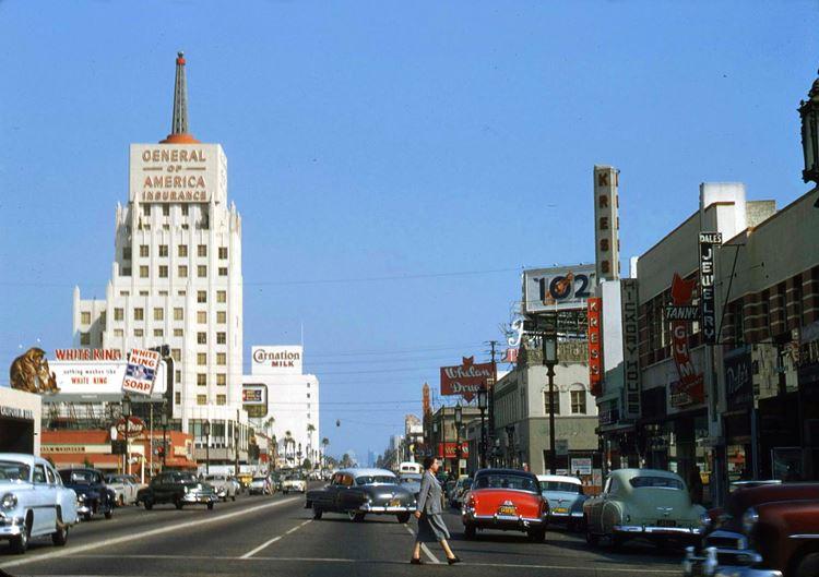 Цветные фото старого Лос-Анджелеса 40-70-х годов - ретро-фото 5