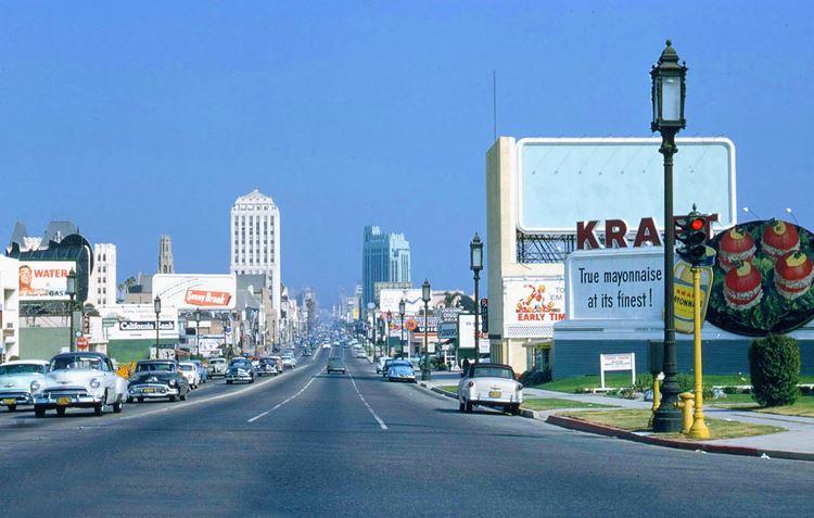 Цветные фото старого Лос-Анджелеса 40-70-х годов - ретро-фото 6