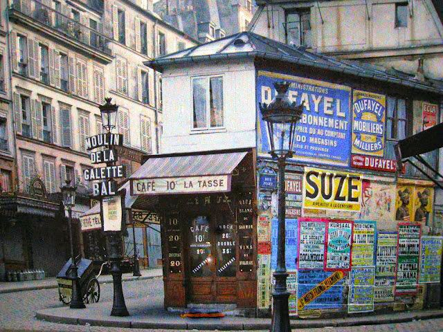 Старый Париж: редкие цветные фото - улицы и кафе