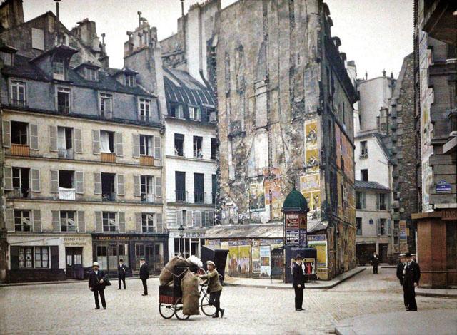 Старый Париж: редкие цветные фото - улицы и дома