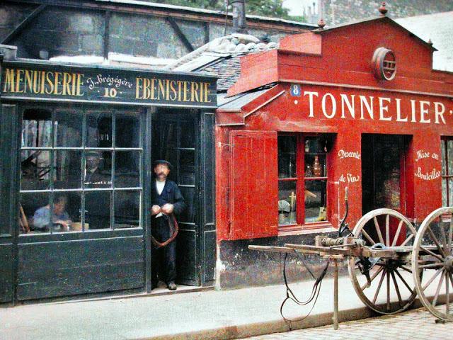 Старый Париж: редкие цветные фото - парижская улица