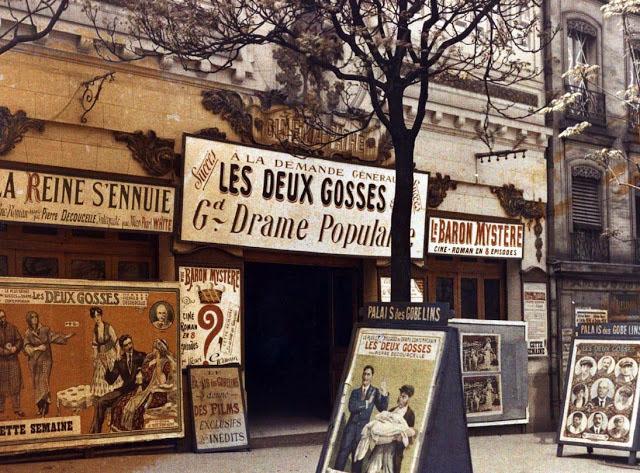 Старый Париж: редкие цветные фото - театральные афиши