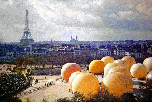 Старый Париж: редкие цветные фото - Эйфелева башня