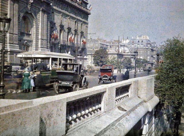Старый Париж: редкие цветные фото - центральные улицы