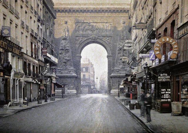 Старый Париж: редкие цветные фото - пустые улицы