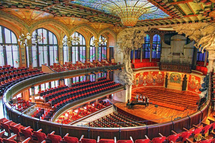 Архитектура Барселоны: Дворец каталонской музыки