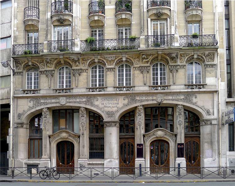 Архитектура Парижа: 10 красивых зданий в стиле ар нуво - Здание профсоюза пищевой промышленности
