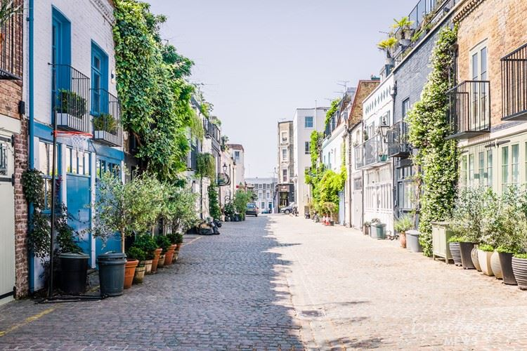 Красивые маленькие улочки Лондона: Сент-Люк Мьюз (Ноттинг Хилл)