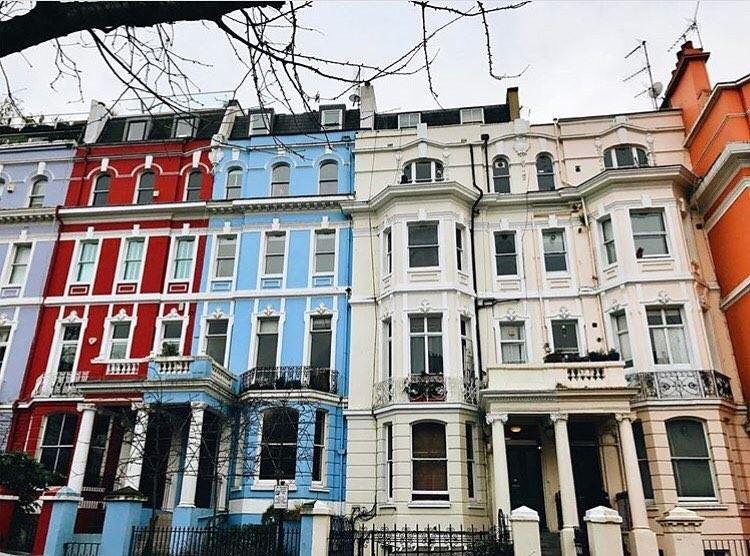Красивые улицы Лондона: Портобелло Роуд (Кенсингтон/Челси)