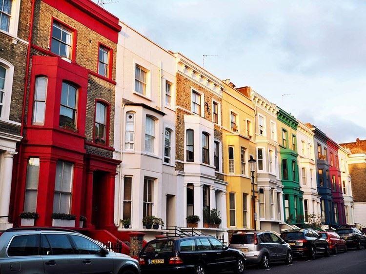 Красивые улицы Лондона: Ланкастер Роуд (Ноттинг Хилл)