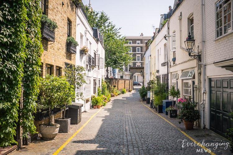 Красивые улицы Лондона: Кайнанс Мьюз (Южный Кенсингтон)