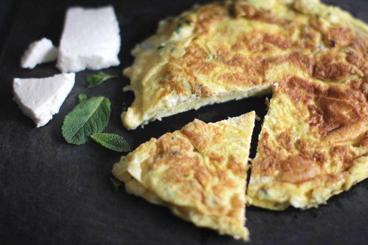 Корсиканский омлет с сыром броччио