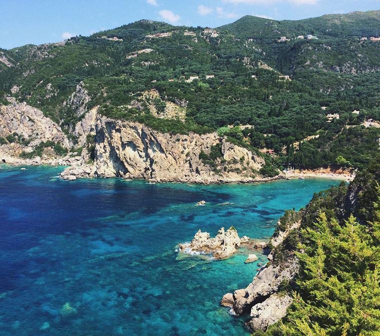 Лучшие пляжи Греции: Палеокастрица