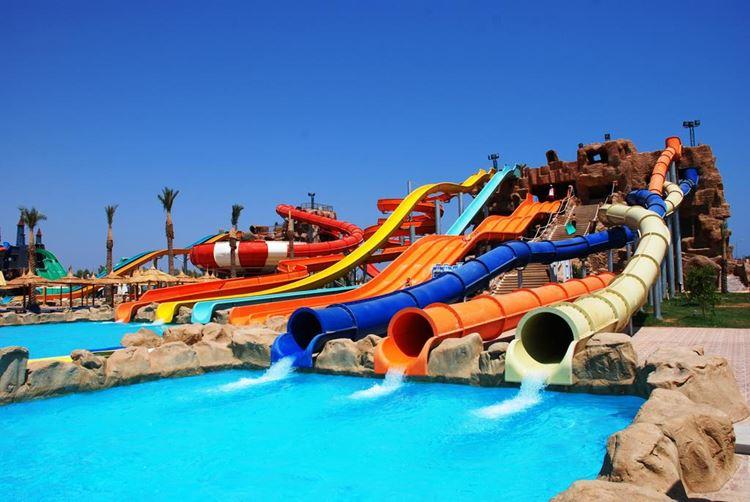 Аквапарки Египта: Aqua Blue Water Park, Шарм-эль-Шейх - яркие водные горки