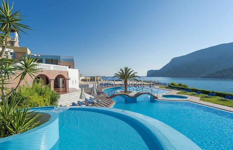 Отели Греции с водными горками - Fodele Beach & Water Park Holiday Resort 5 звёзд
