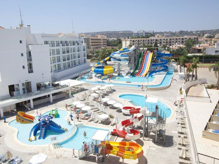 Отели Кипра с водными горками - Anastasia Beach Hotel 4 звезды