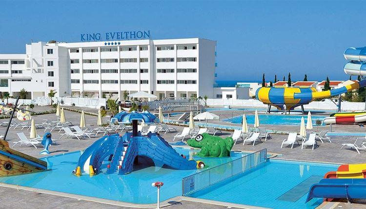 Курортные отели Кипра с аквапарком: King Evelthon Beach Hotel and Resort - детские бассейны