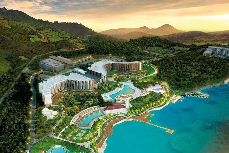 Курортные отели Кипра с аквапарком:  Elexus Hotel & Resort & Spa - берег моря с пляжем