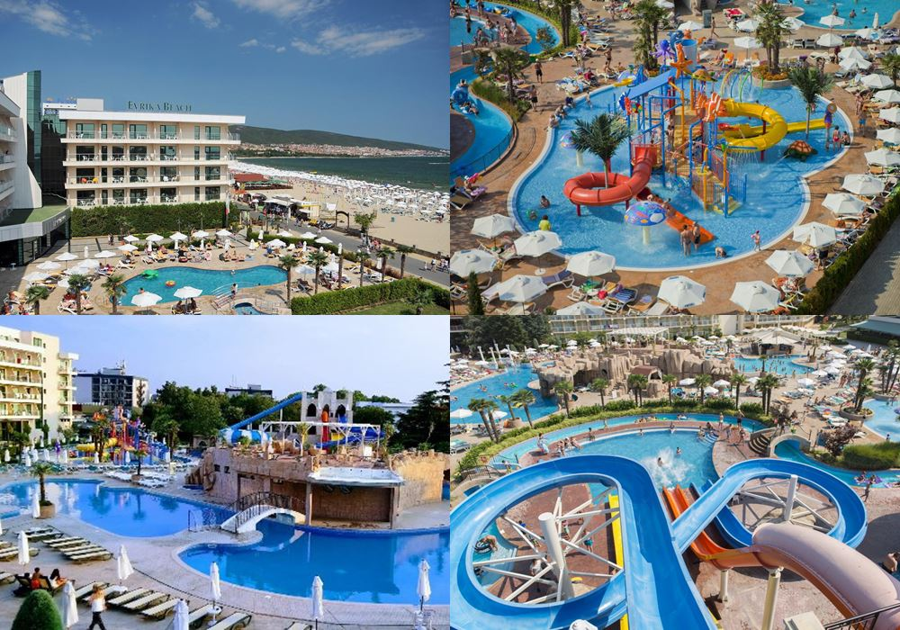 Отели Болгарии с аквапарком: DIT Evrika Beach Club Hotel & Waterpark (Солнечный берег)