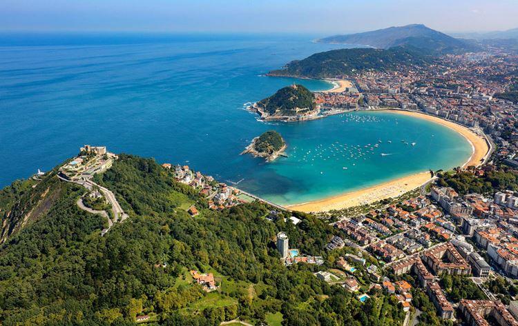 Города Испании на побережье Атлантического океана - Сан-Себастьян