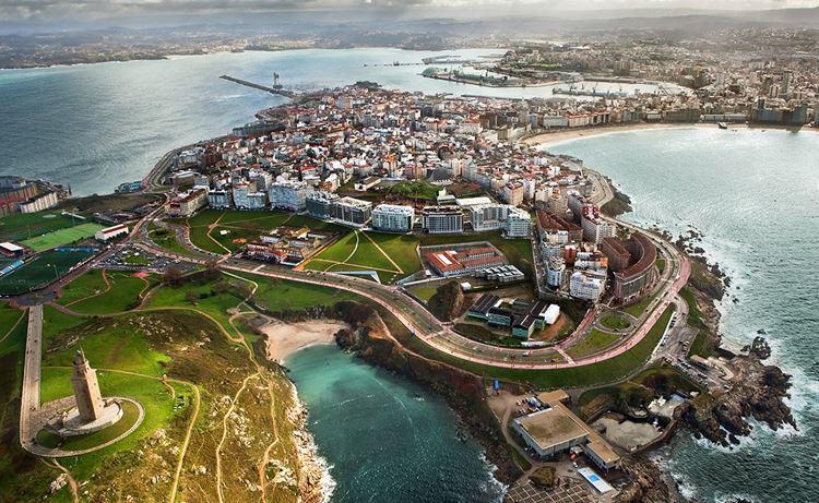 Города Испании на побережье Атлантического океана - Ла-Корунья