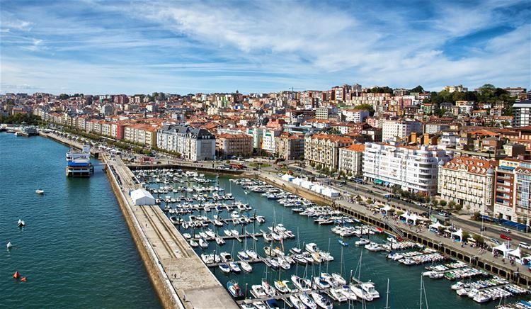 Города Испании на побережье Атлантического океана - Сантандер