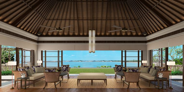 Four Seasons Resort Bali at Jimbaran Bay - интерьер гостиной виллы
