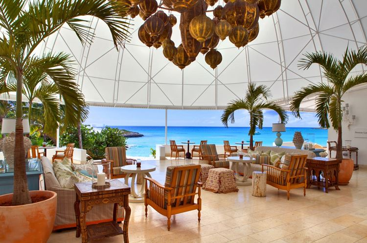 Курортный отель Belmond Cap Juluca на Карибах: лаунж зона