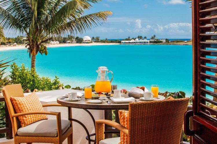 Курортный отель Belmond Cap Juluca на Карибах: завтрак с видом
