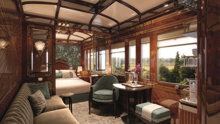 Поезд Venice Simplon-Orient-Express новые купе Grand Suites