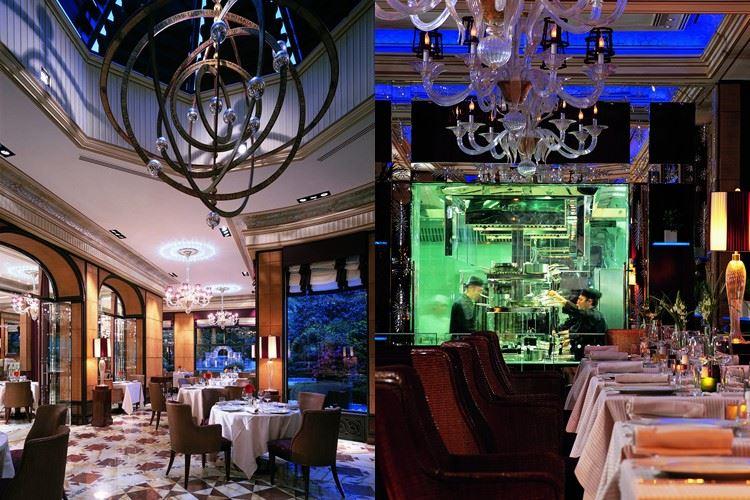 Ресторан Acanto отеля Principe Di Savoia: дизайн интерьера