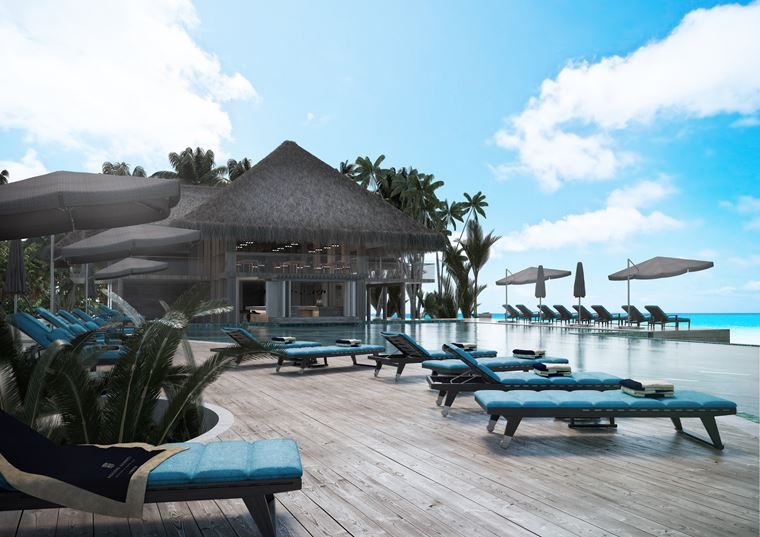 Курорт Baglioni Resort Maldives - бар у бассейна
