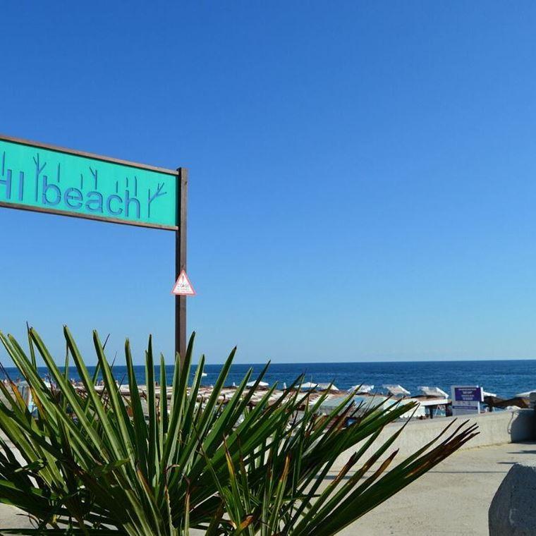 Адлер: фото города и пляжей - Галечный пляж Hi Beach