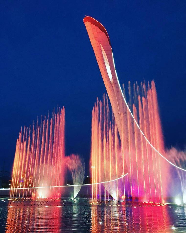 Адлер: фото города и пляжей - Поющие фонтаны