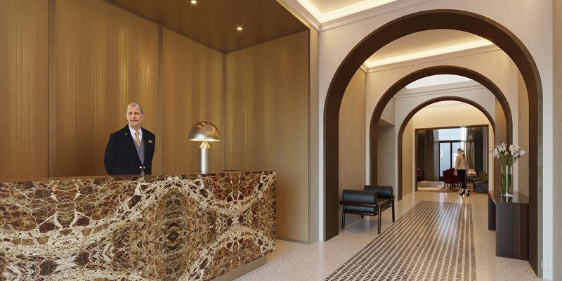 Лобби и рецепция отеля Margutta 19 в Риме