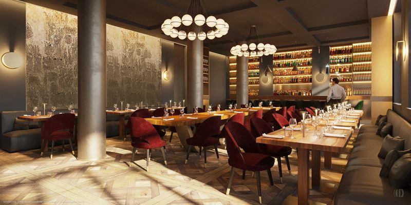 Отель Margutta 19 в Риме – интерьер ресторана