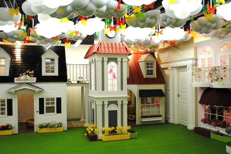 Ribambelle Green - интерьер детской игровой комнаты