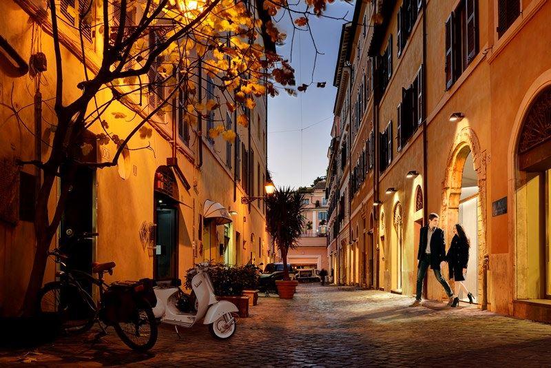 Виа Margutta в Риме - улица художников