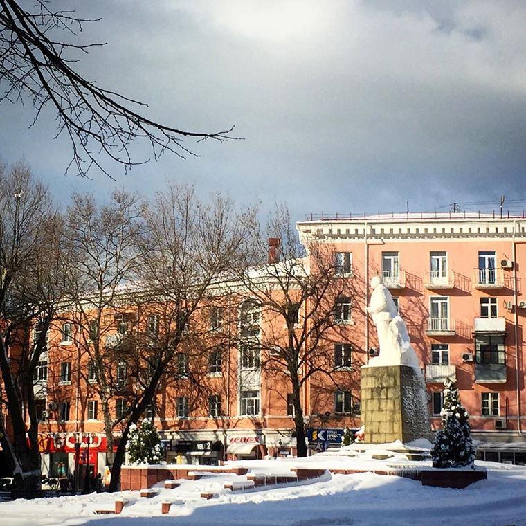 Туапсе: фото города и пляжа - улицы зимой