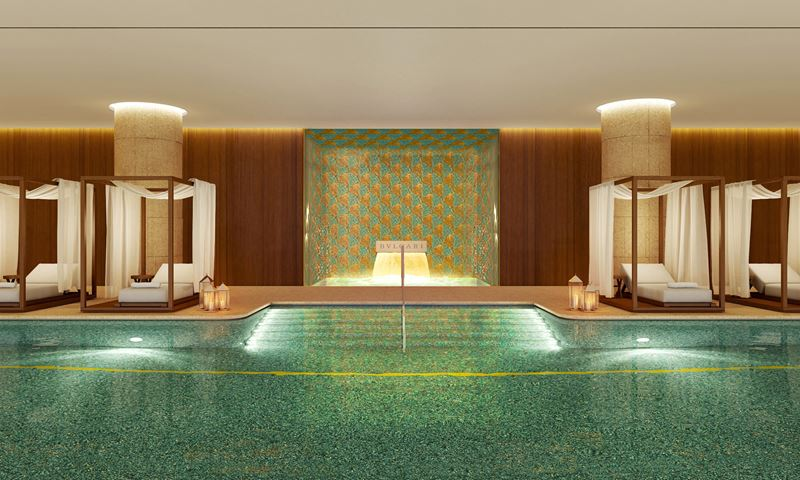 Bulgari Hotel Beijing - закрытый бассейн отеля
