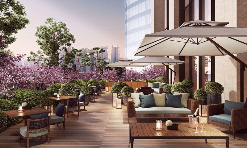Bulgari Hotel Beijing - терраса отеля