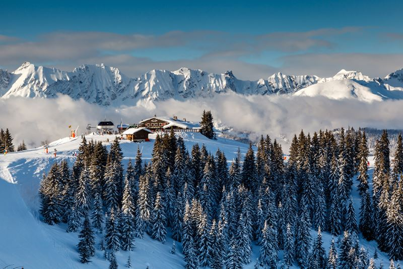 Four Seasons Hotel Megeve - пейзаж Французских Альп