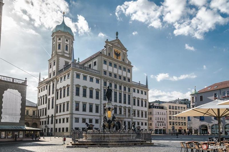 Красивые города юга Германии: Аугсбург - архитектура центральной части