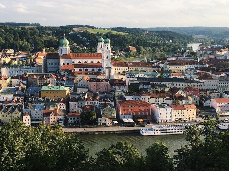 Красивые города юга Германии: Пассау - берег реки