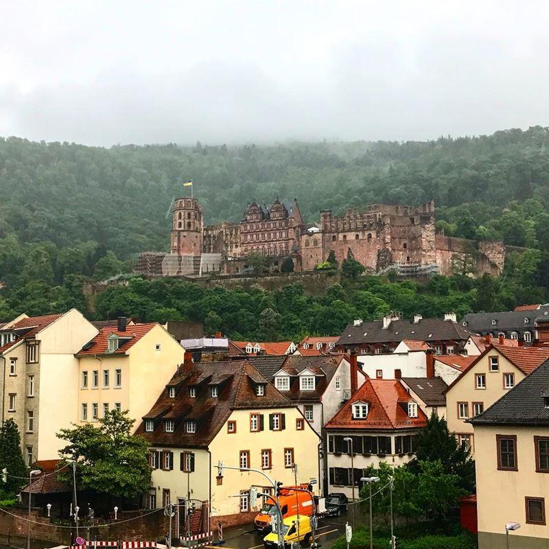 Красивые города юга Германии: Гейдельберг - жёлтые домики и средневековый замок