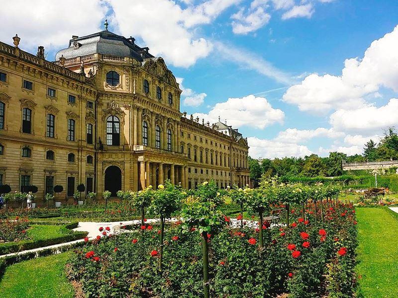 Красивые города юга Германии: Вюрцбург, резиденция с садом