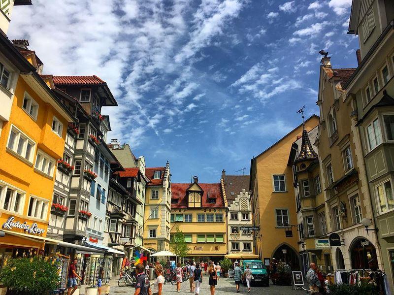 Красивые города юга Германии: Линдау - яркая старинная архитектура