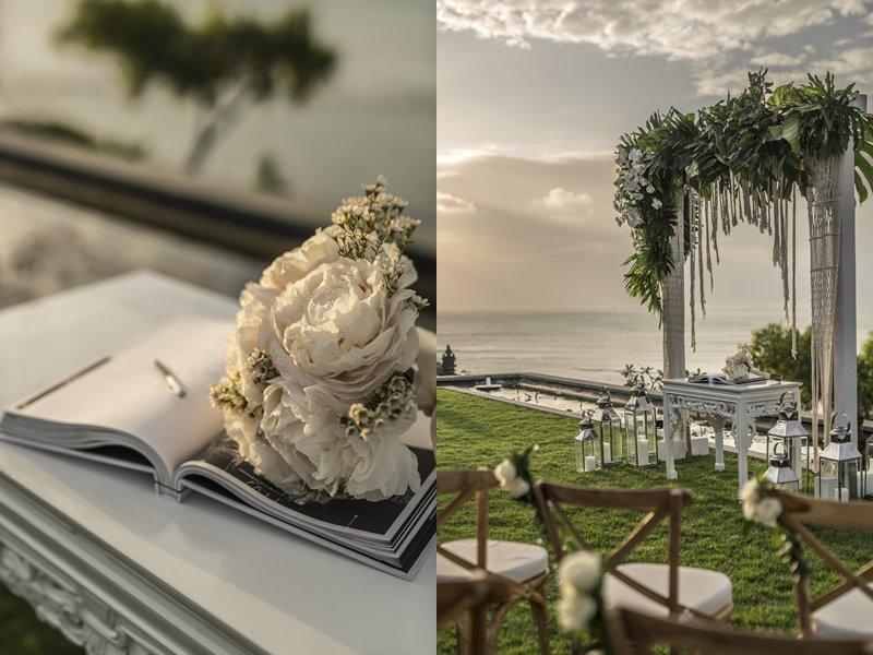 Свадьба на Бали с Four Seasons Resort Bali at Jimbaran Bay - книга записей и алтарь
