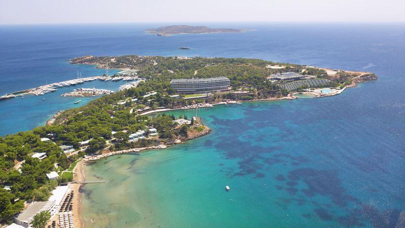Four Seasons Astir Palace Hotel Athens - морской пейзаж полуострова